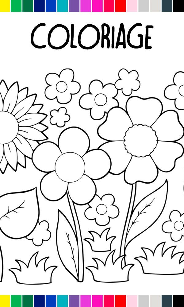 Coloriage A Imprimer Petites Fleurs De Printemps Coloriage