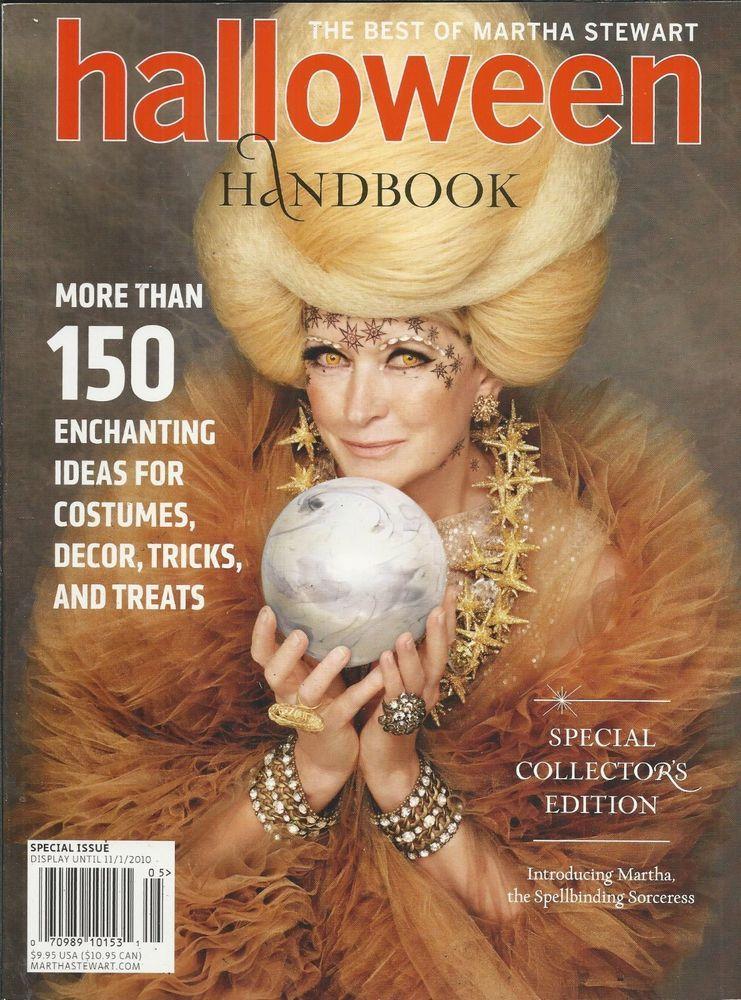 Martha Stewart Halloween Magazine Handbook Costumes Decor Tricks And - martha stewart halloween ideas