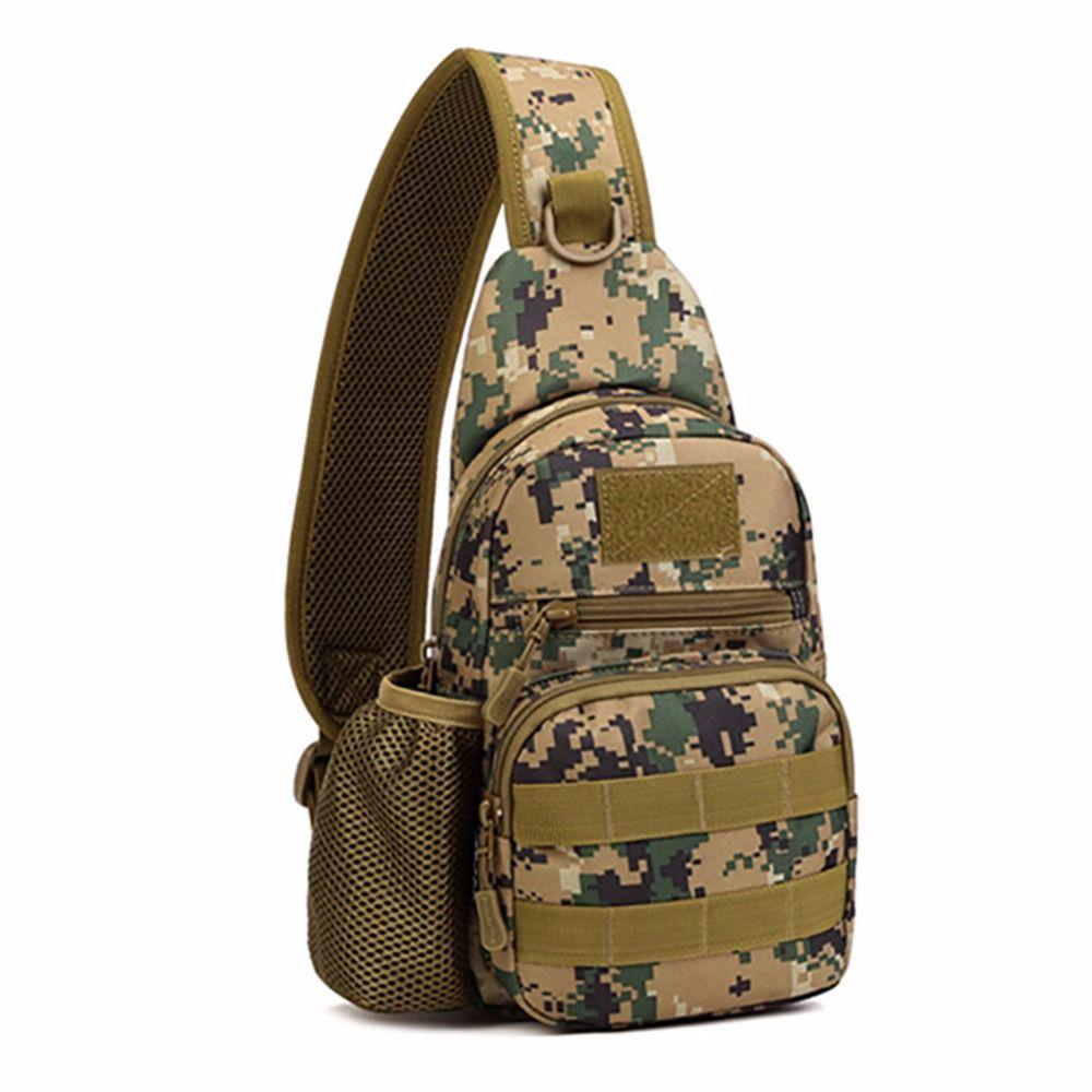 Men Tactical Military Messenger Shoulder Bag Sling Outdoor Waterproof Chest Bag