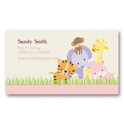 Pixdezines Jungle Of Fun Daycare Business Card Child Care Business