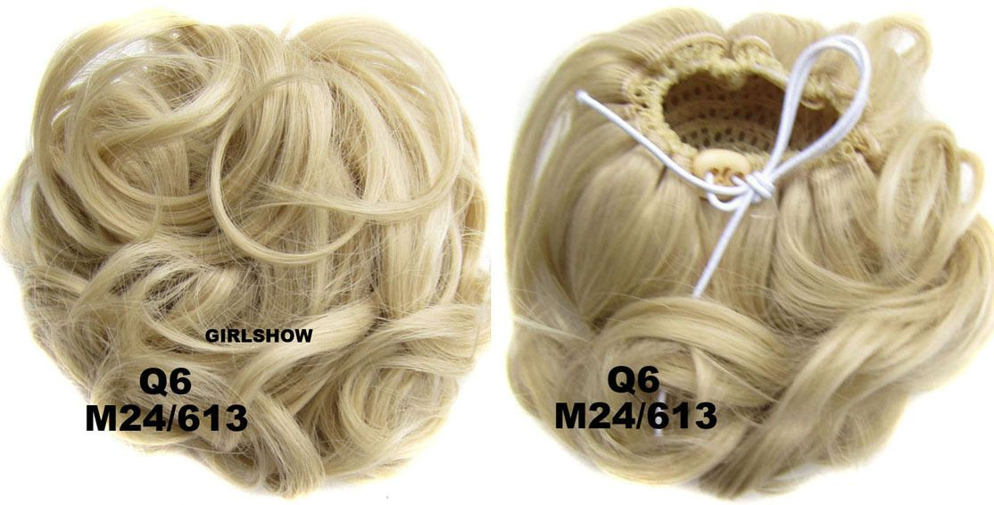 Ladies refinement curly and short hair buns drawstring synthetic curly and short hair buns drawstring synthetic hair extension bride scrunchies m24613 pmusecretfo Gallery