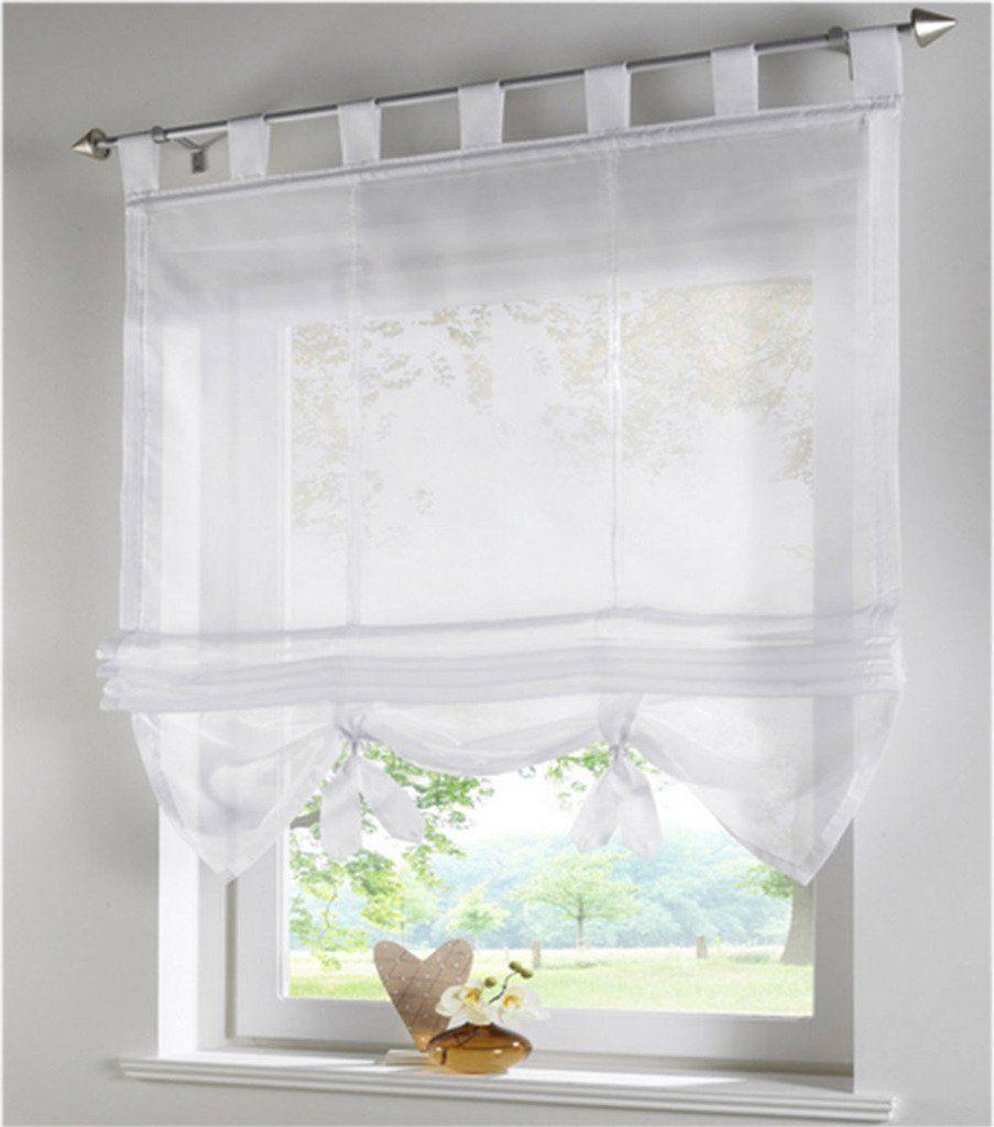 SIMPVALE Condole estilo romano L caida sombra ventana cortina para ...