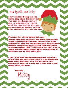 Elf On The Shelf Letterhead Free  Google Search  JenS Stuff