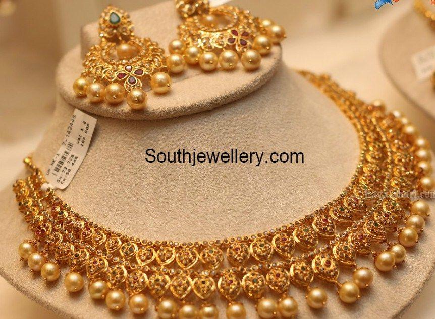Uncut Necklace and Chandbalis Set - Jewellery Designs | jewellery ...