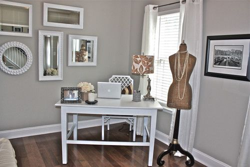 Pin By Lindsey Garcia On For The Home Mindful Gray Home Office