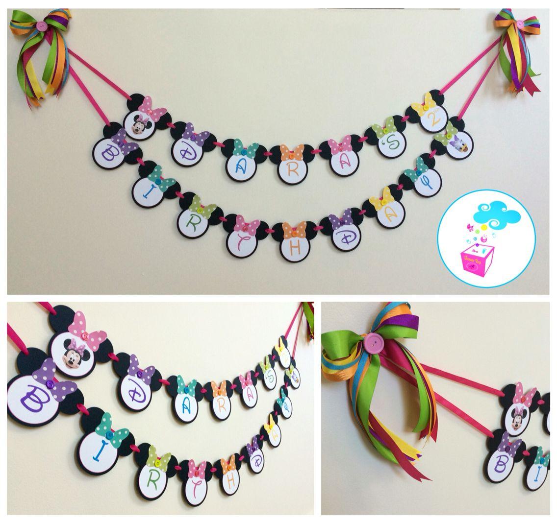 Minnie Mouse & Daisy Birthday Banner ShowerBox Designs Www