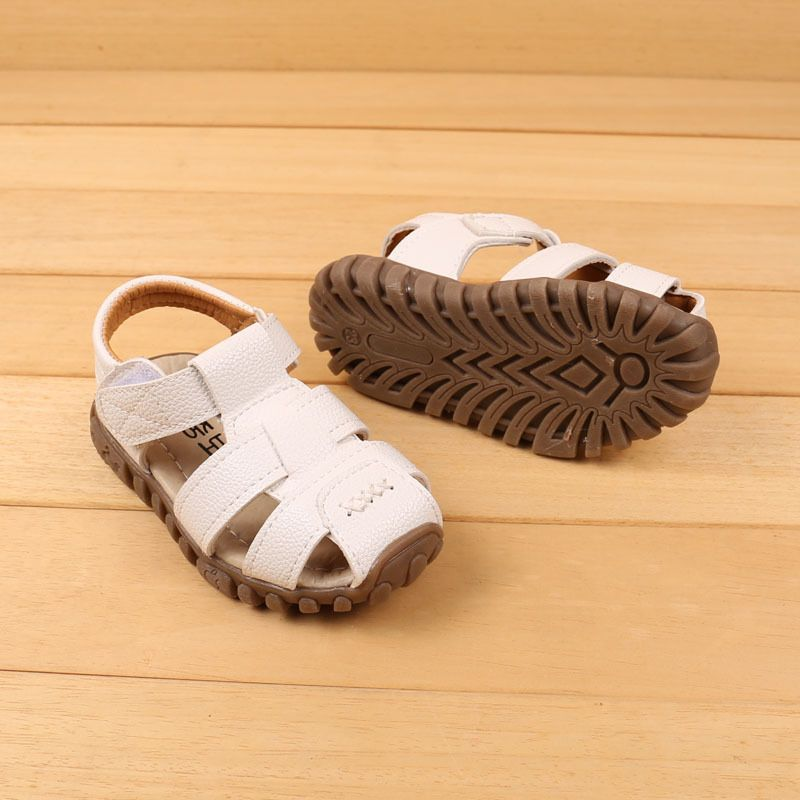 3deefb4f4 Free Shipping Baby Boy Sandal Kids Sandals Closed Toes Leather Children  Sandals For Boys  Kidsandalsboy