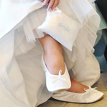The Bride Can Wear Ballet Slippers To Keep Her Feet Comfortable At Wedding Reception