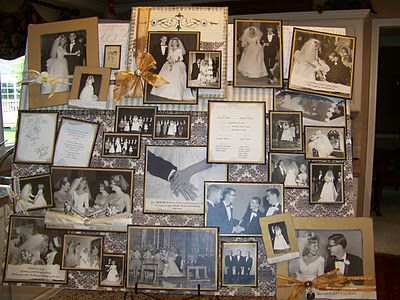 Th wedding anniversary memory board cool ideas look this