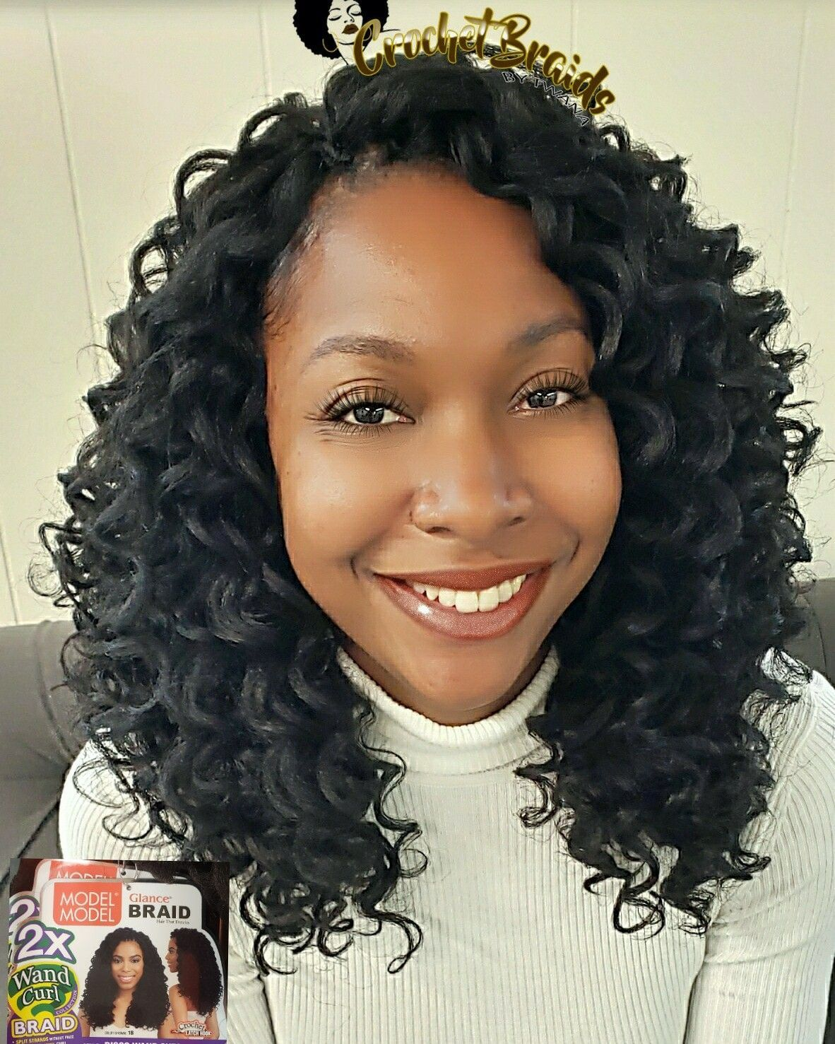 Crochet Braids featuring Model Model Glance 2x Disco Wand Curl. 2.5 packs used. This is big hair. If you don't like volume, this is not for you. #bighairdontcare #wandcurl #discowandcurl #modelmodel #glance #crochetbraidsbytwana #crochetbraids #vacrochetbraids #fredericksburgva #delmarvacrochet #dmvcrochetbraids #fredericksburgcrochetbraids www.crochetbraidsbytwana.com #crochetbraids