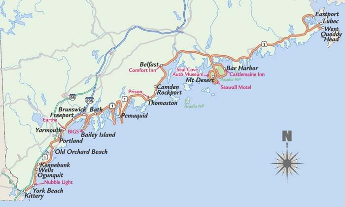 Map Of Maine Coastline Towns.Image Result For Maine East Coast Towns On A Map Maine