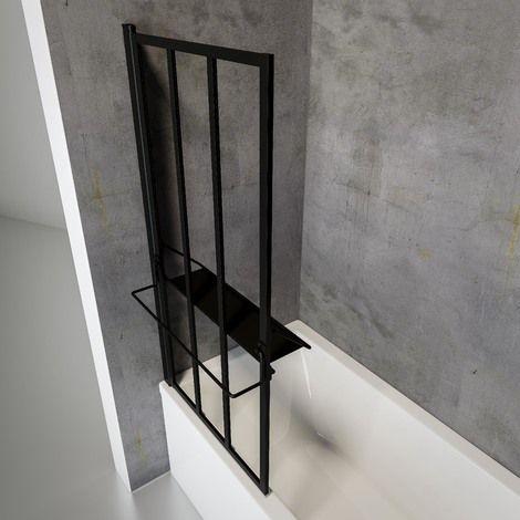 pare baignoire rabattable pivotant 75 x 140 cm verre 4 mm anticalcaire d cor verri re atelier