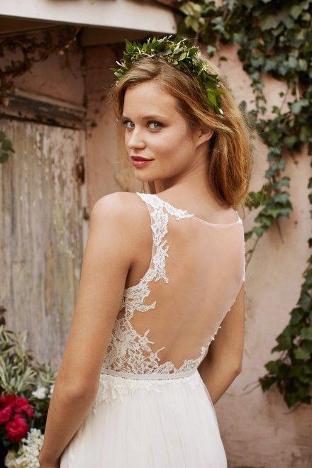 Tattoo Lace Wedding Dress Low Back Wedding Dress Illusion Back