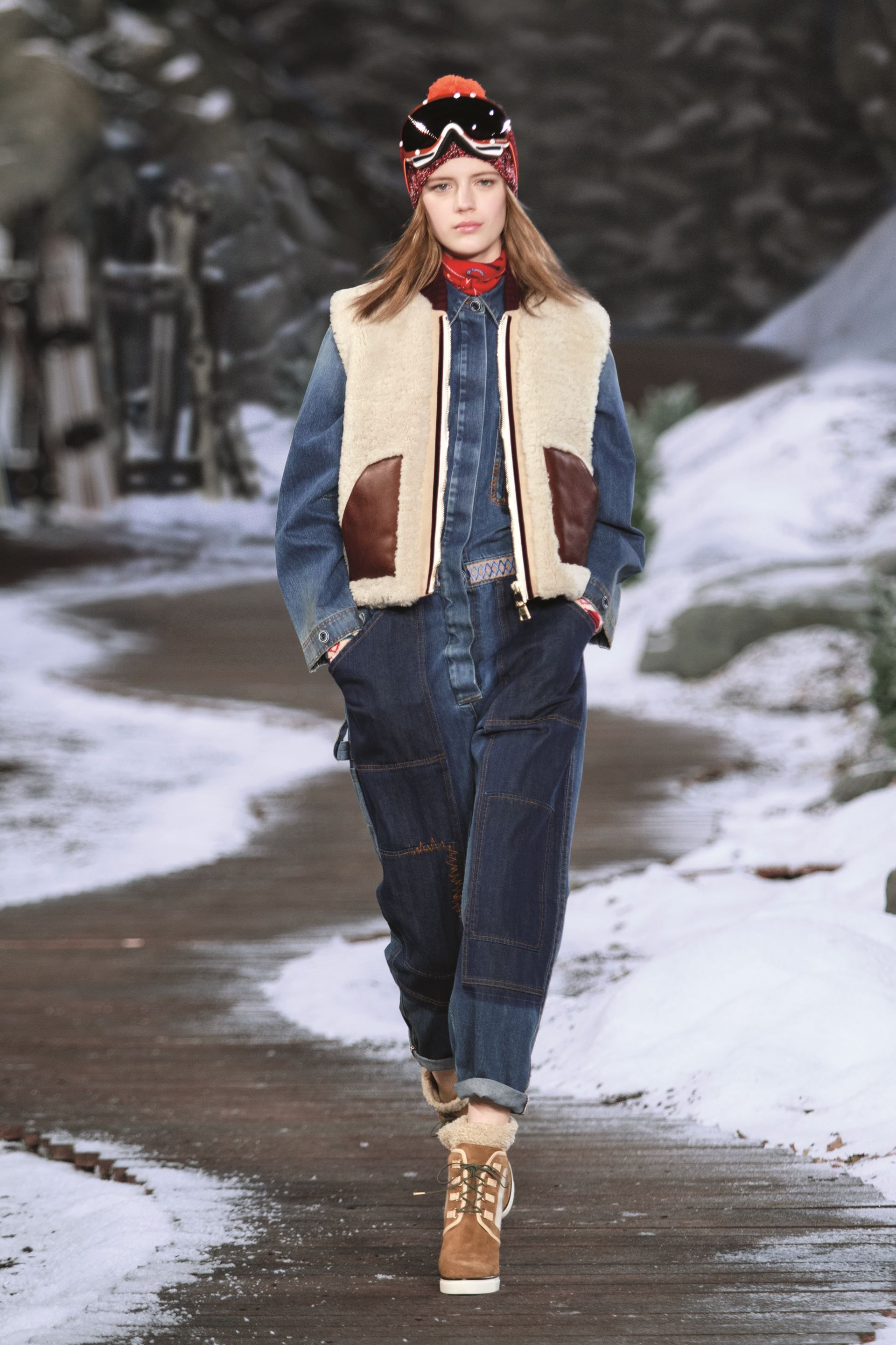 Hiker chic and mountain style get an urban twist in the Hilfiger Collection Fall '14