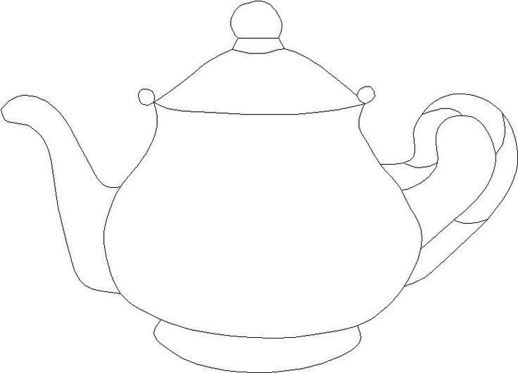Teapot Quilt Patterns large template | Teapot Suncatcher ...