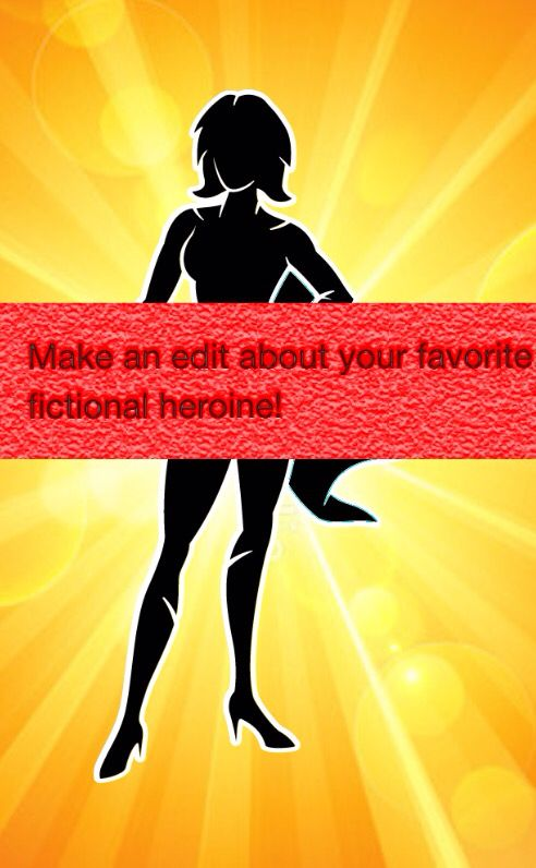 Due by Friday afternoon, at which time the winners will be announced. They can be from a book, movie, TV show, anything you want. Happy Editing!