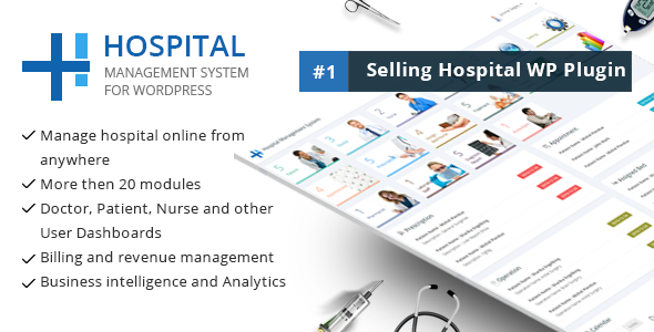Hospital Administration System For Wordpress Wordpress Themes And Plugins In 2020 Hospitality Management Revenue Management Hospital Administration