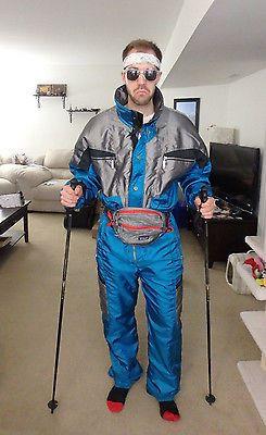 6c7be29fcf Cerros Mens Vintage 80s 90s Onesie Snow SKI Suit Jacket Snowsuit ...