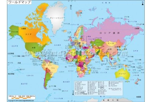 World political map in japanese store mapsofworld pinterest world political map in japanese gumiabroncs Gallery