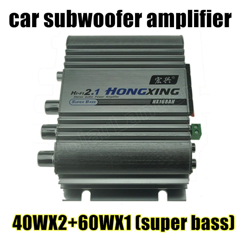 White New Arrival 12v Amplifier Audio Car Super Bass Cheap Booster Function Subwoofer Hi Fi