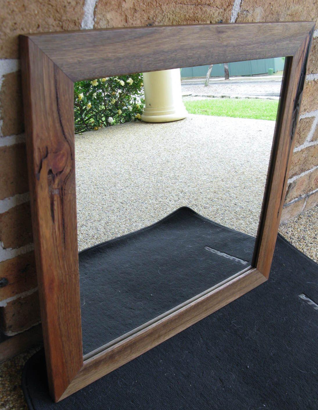 Australian Hardwood Spotted Gum Framed Wall Mirror