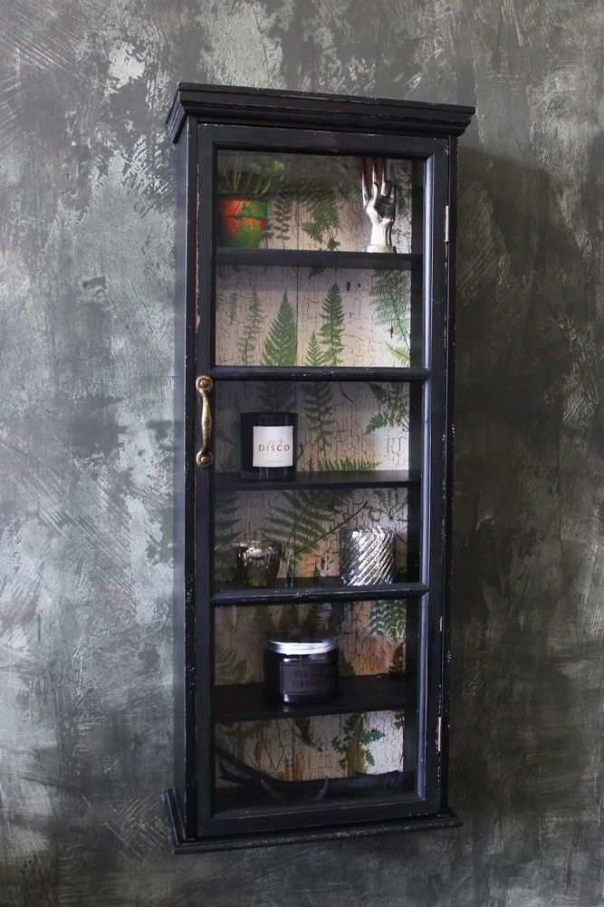 Wall Cabinet With Botanical Lining