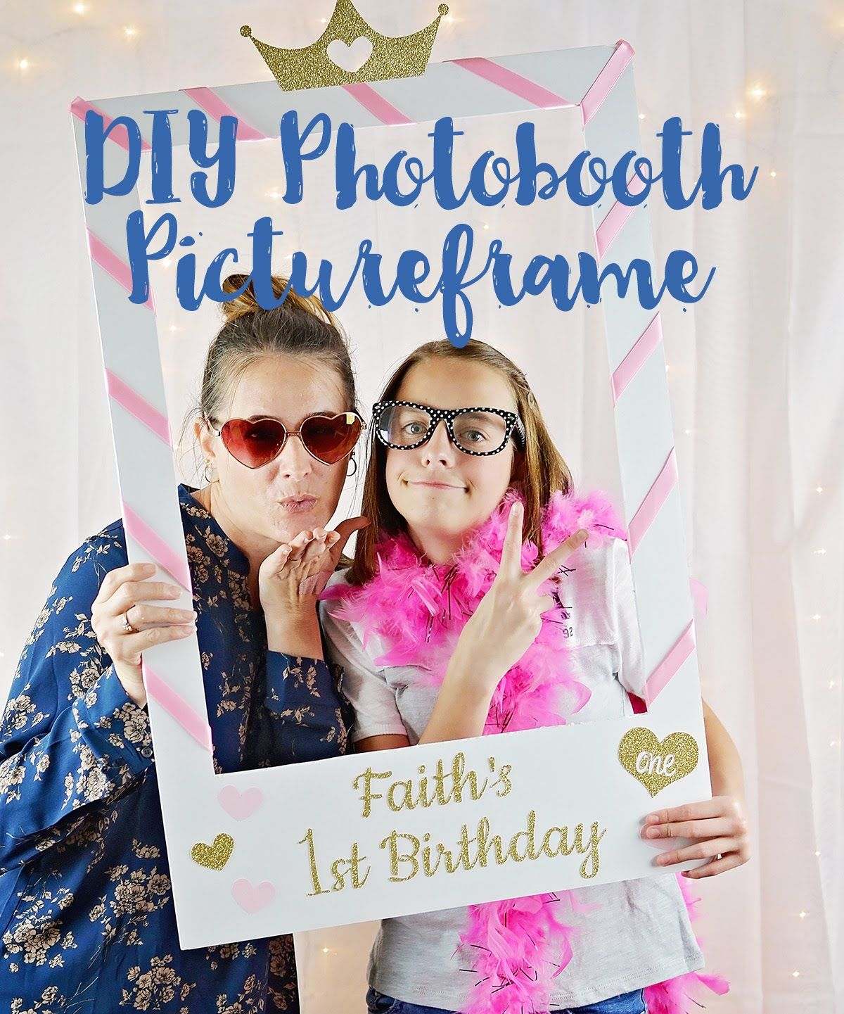 06d7322c68 How to Make a Photo Booth Picture Frame - DIY Photo Booth Photo Frame