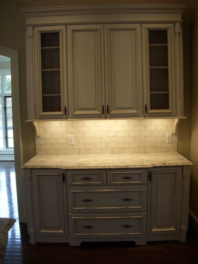 kitchen buffet cabinet - Make it built in and top middle doors slide ...
