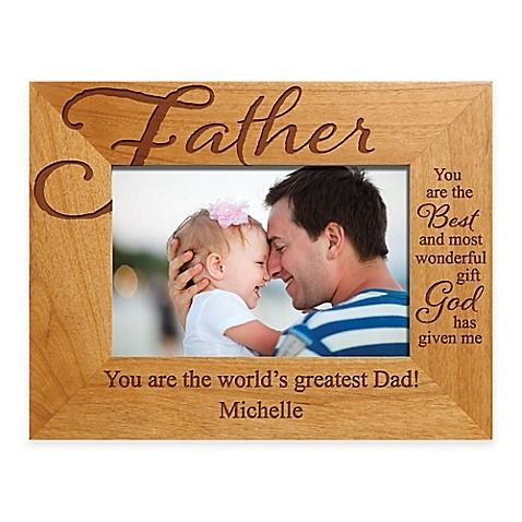 Father The Best Gift 4 Inch X 6 Inch Picture Frame Personalised Frames Father Picture Picture Frame Designs