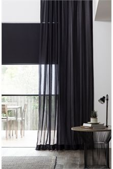 Sheer Black Curtains Living Room Bedroom Curtains With Blinds