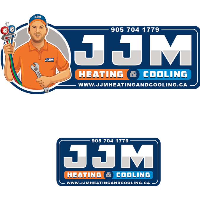 Stand Out And Fun Logo For Heating And Cooling Company By