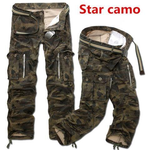 a9c71585828 Camo Combat Loose Baggy Cargo Pants