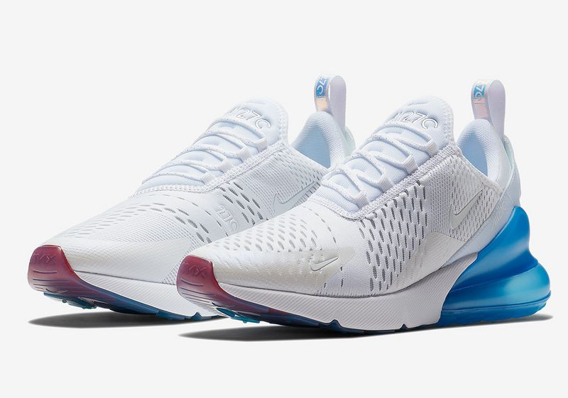 Nike Air Max 270 Blue White Metallic Silver AQ7982 100 2018 Womens ... a732b29f4
