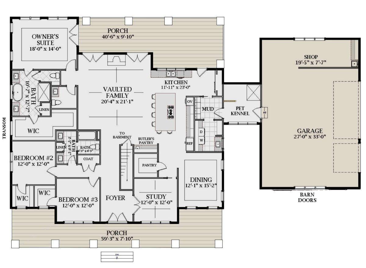 House Plan 6849 00091 Modern Farmhouse Plan 2 959 Square Feet 3 Bedrooms 2 5 Bathrooms In 2020 Modern Farmhouse Plans Farmhouse Plans Dream House Plans