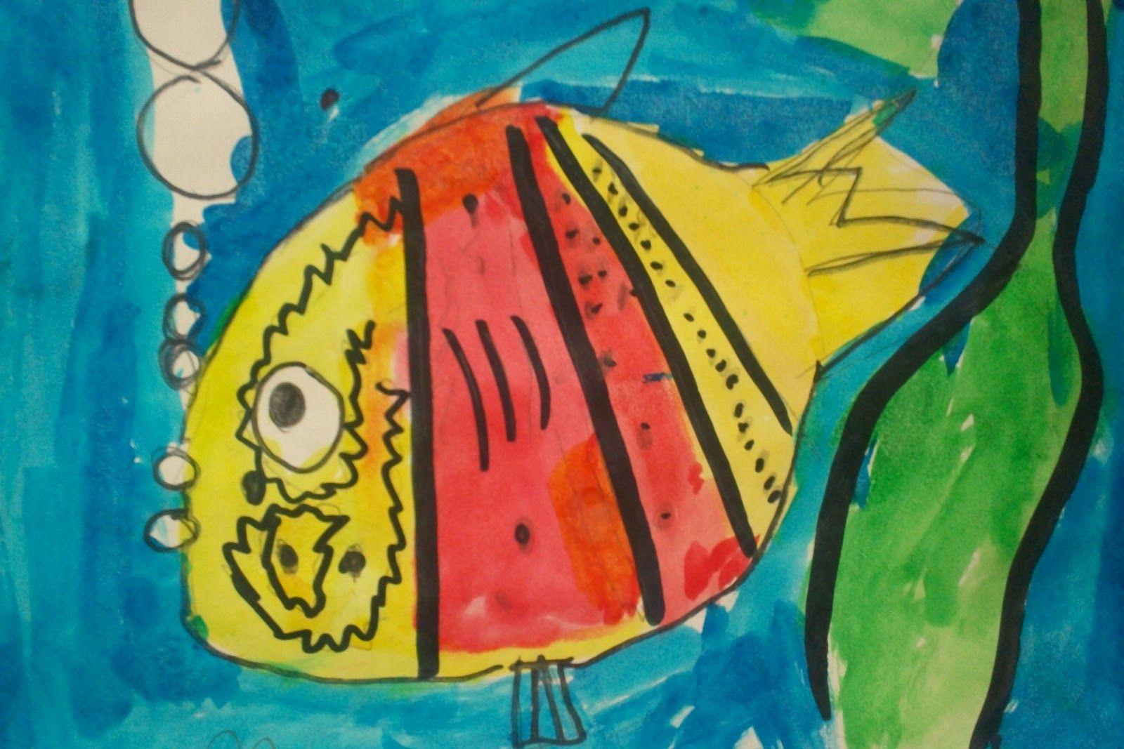 Watercolor Fish Kindergarten