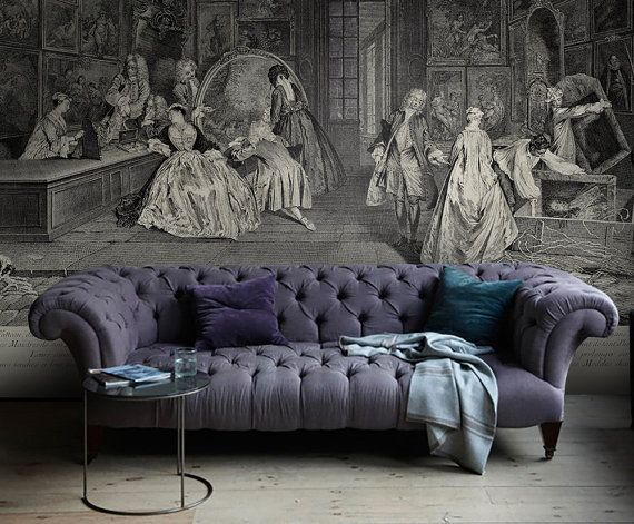 Vintage Wall Mural Drawing Wallpaper
