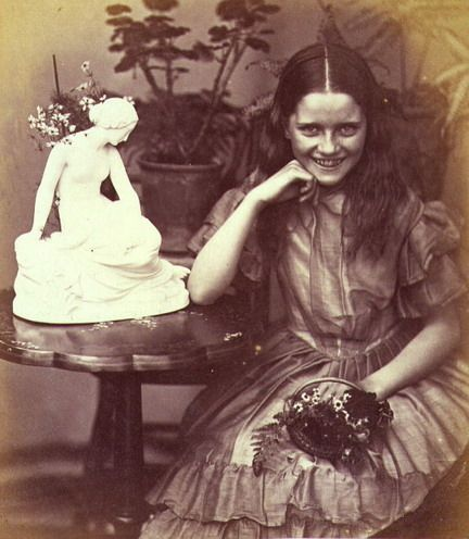 """Flora Rankin in """"No Lessons Today"""" by Lewis Carroll, 1863"""