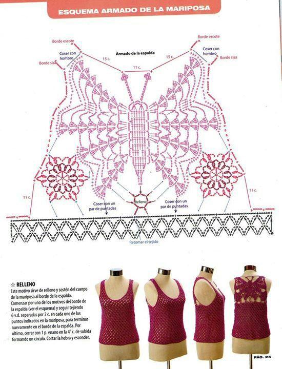 Mariposa | Crochet Butterfly | Pinterest | Patrones, Mariposas y ...