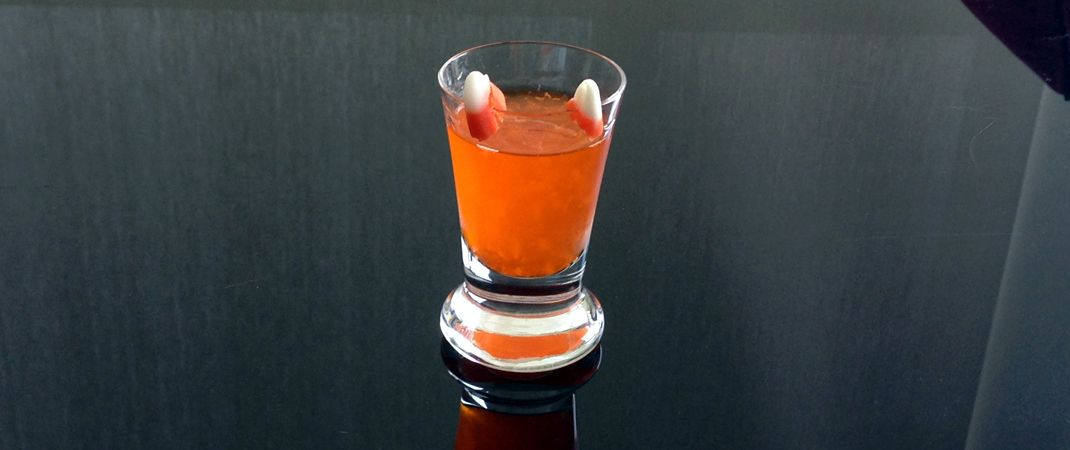 Spooktacular Caramel Candy Corn Vodka Shot Recipe for #Halloween. A Devilish Fall Favorite to Liven up Any Party