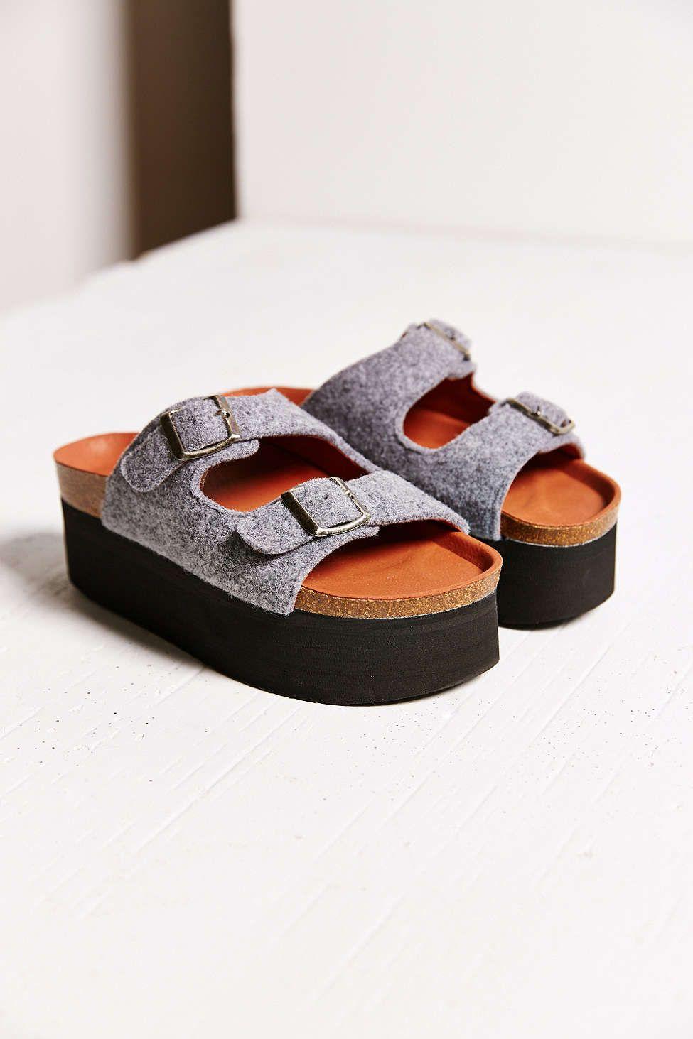 deeaf0b8d84 Sixtyseven Felt Indigo Platform Sandal - Urban Outfitters