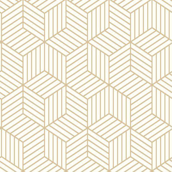 Metallic Ribbon Peel Stick Wallpaper Gold Ivory Project 62 Peel And Stick Wallpaper Metallic Wallpaper Wallpaper Accent Wall