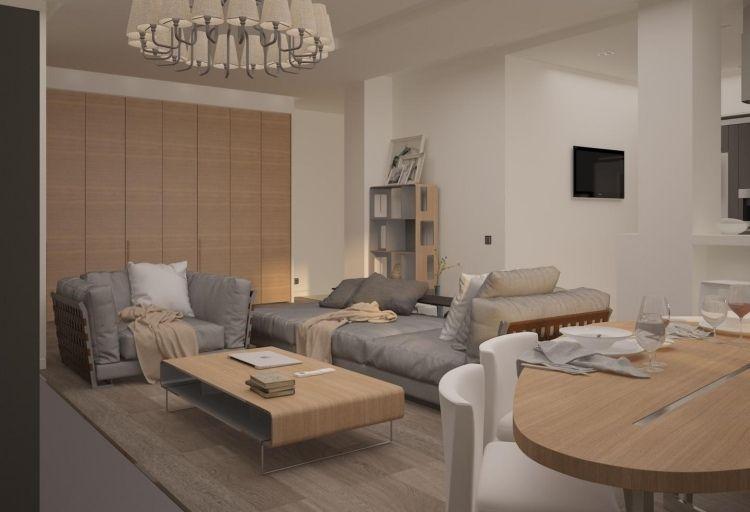 Best Salon Blanc Gris Bois Photos - Amazing House Design ...