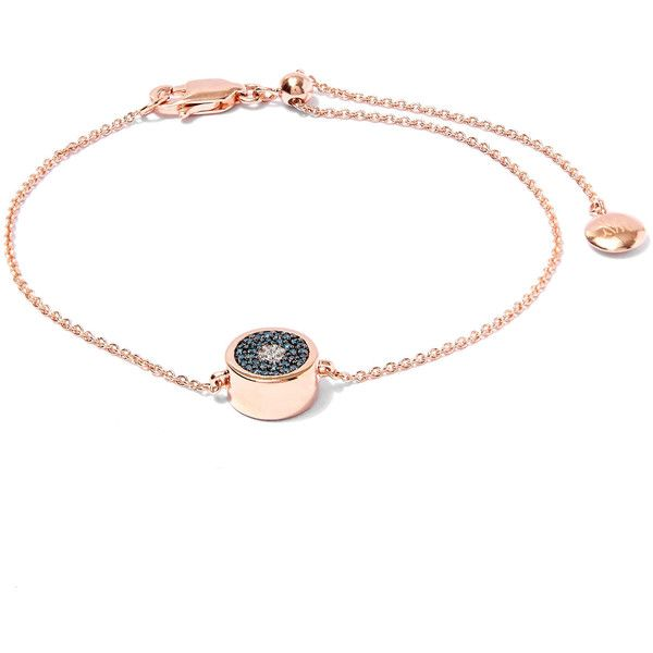 Monica Vinader Rose Gold Plated Evil Eye Diamond Bracelet 335 Liked On
