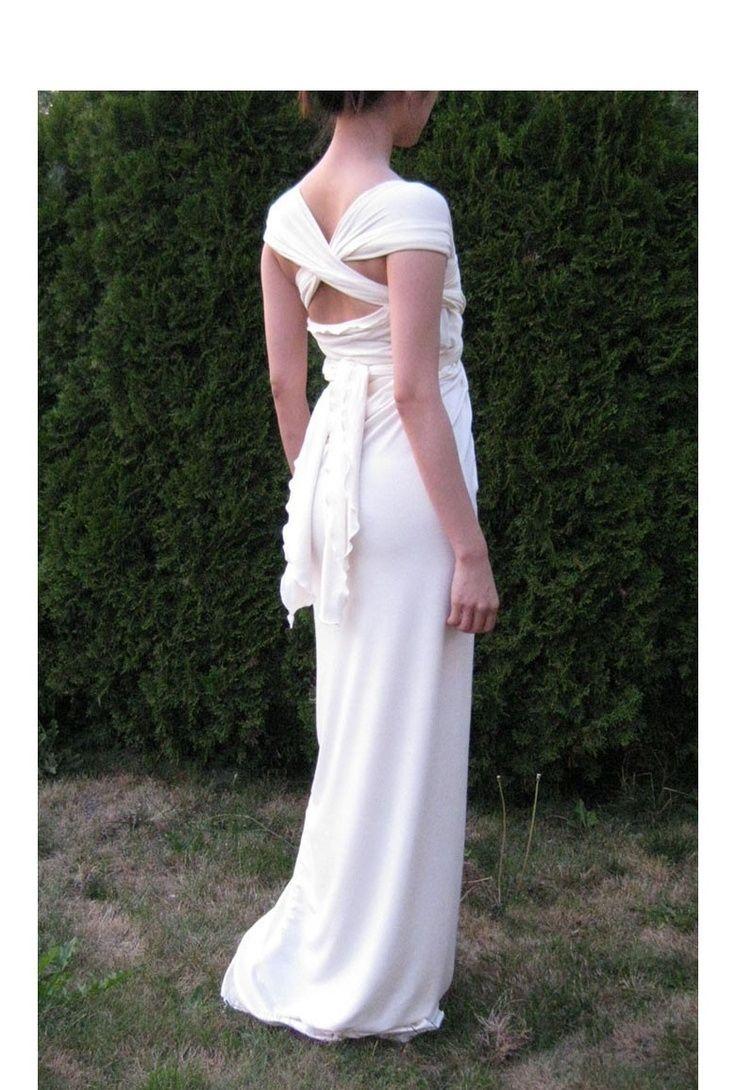 Grecian Wrap Dress / Wedding Dress #grecianweddingdresses