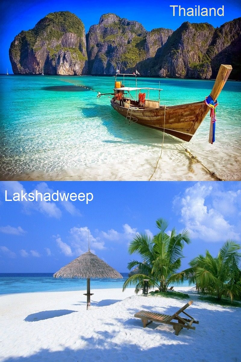Bright blue water in the ocean, White Sands, Greener on
