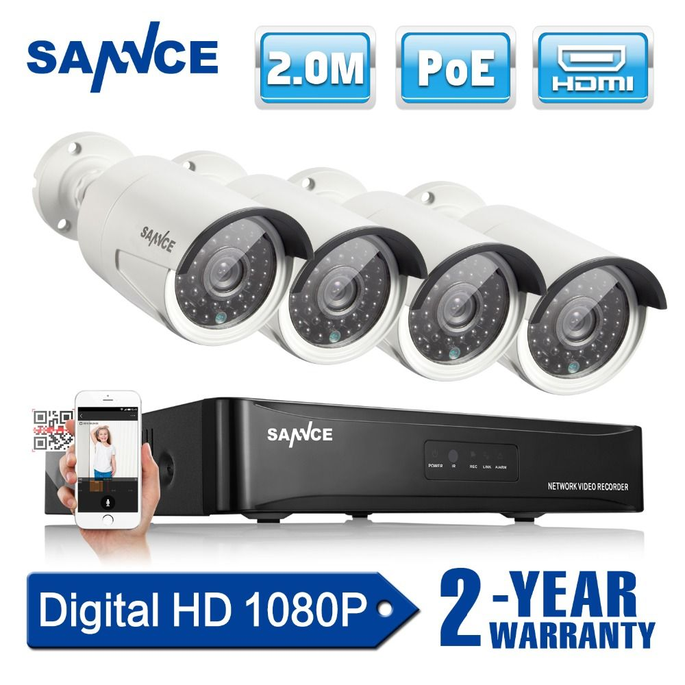 check discount sannce 4ch 1080p network poe nvr kit cctv security ...