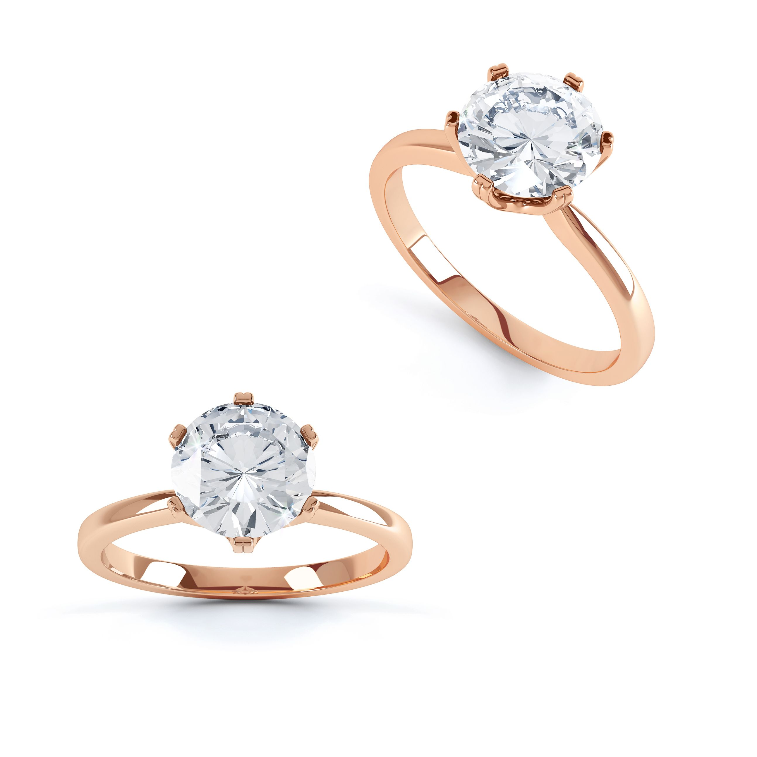 Serenity Moissanite 18k Rose Gold Solitaire Ring Moissanite Engagement Ring Rose Gold Rose Gold Solitaire Ring Forever Brilliant Moissanite Ring