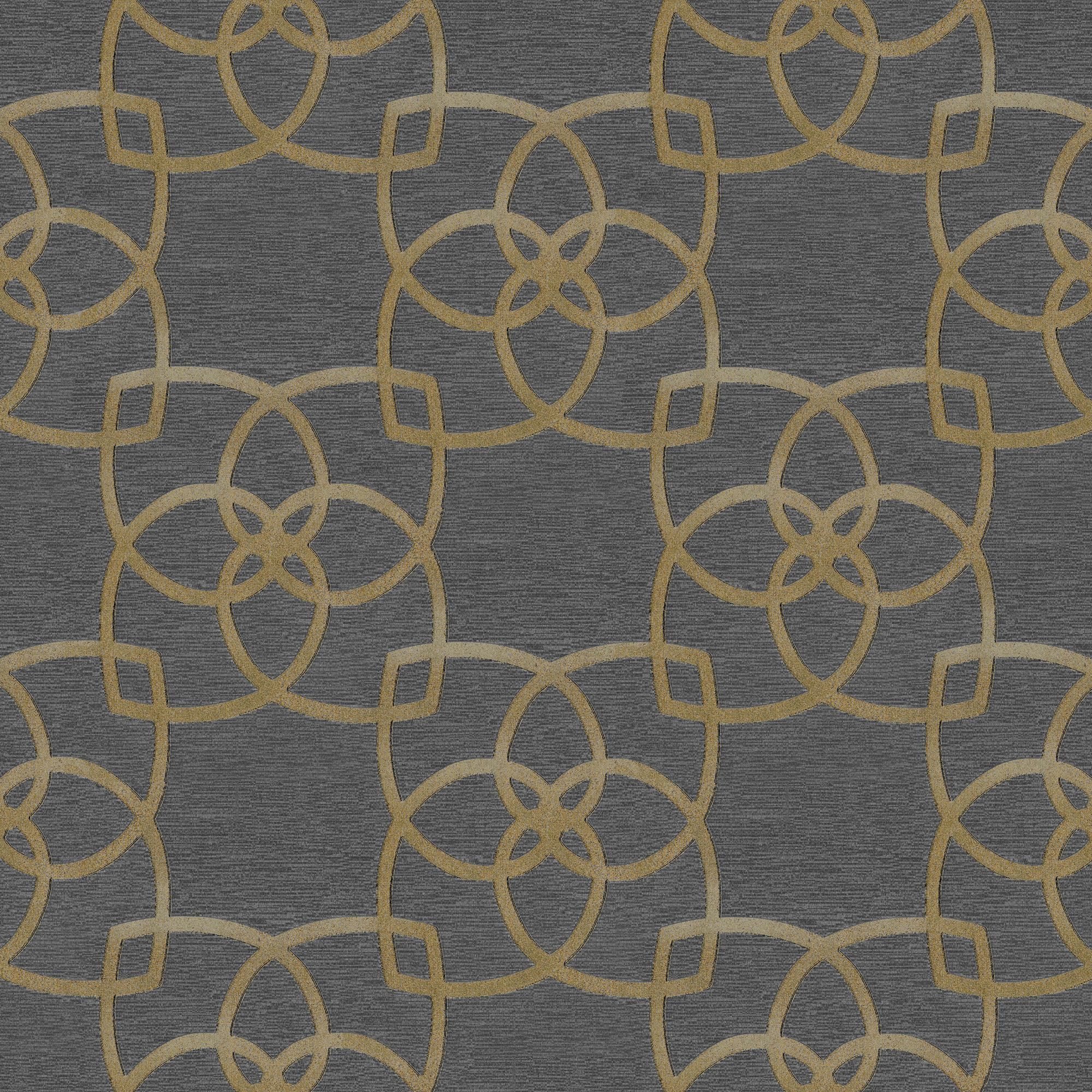 Muriva Precious Silks Warm Gold & Silver Geometric