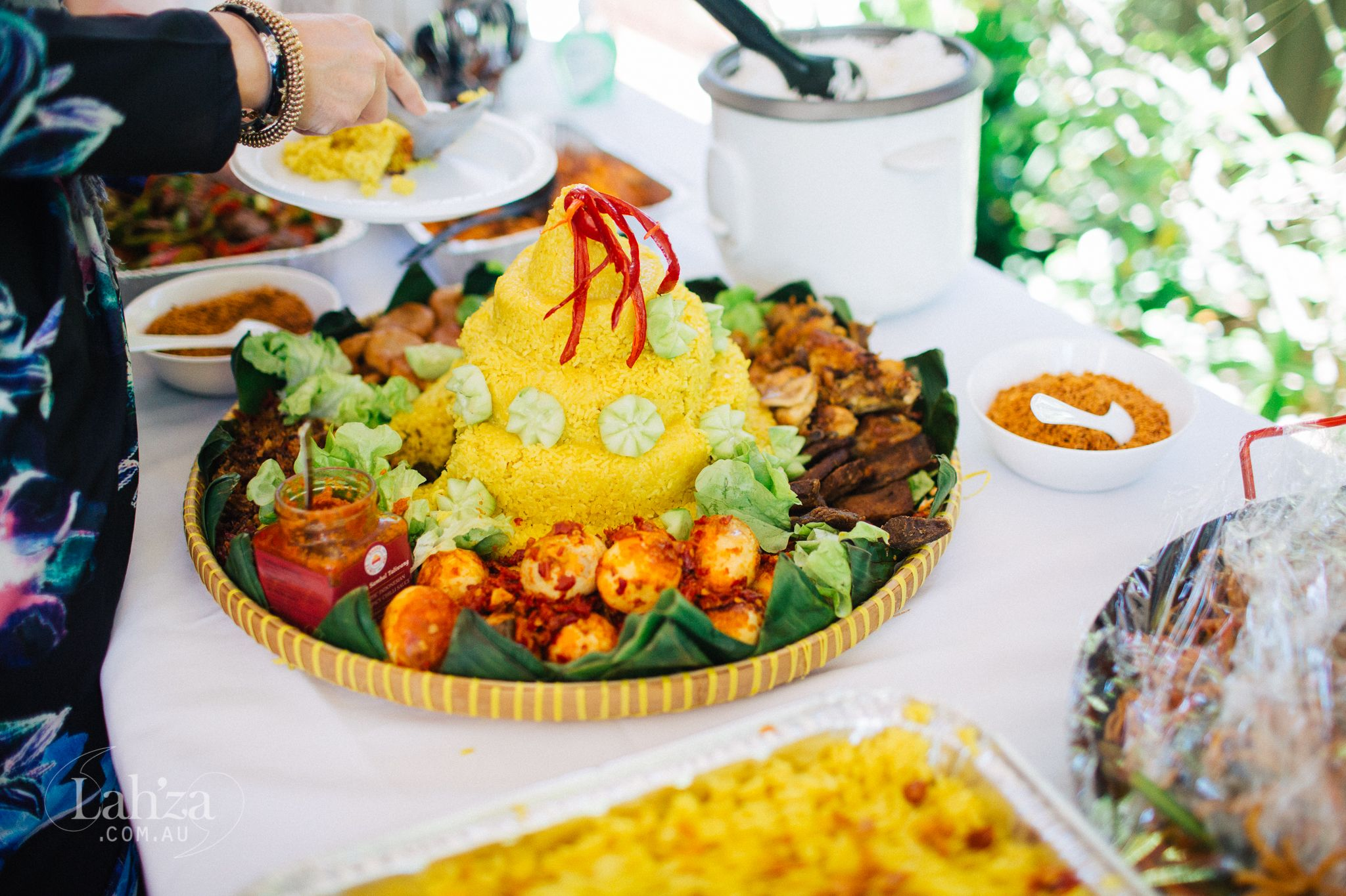 Nasi Kuning  Indonesian Yellow Rice To Celebrate The Occasion