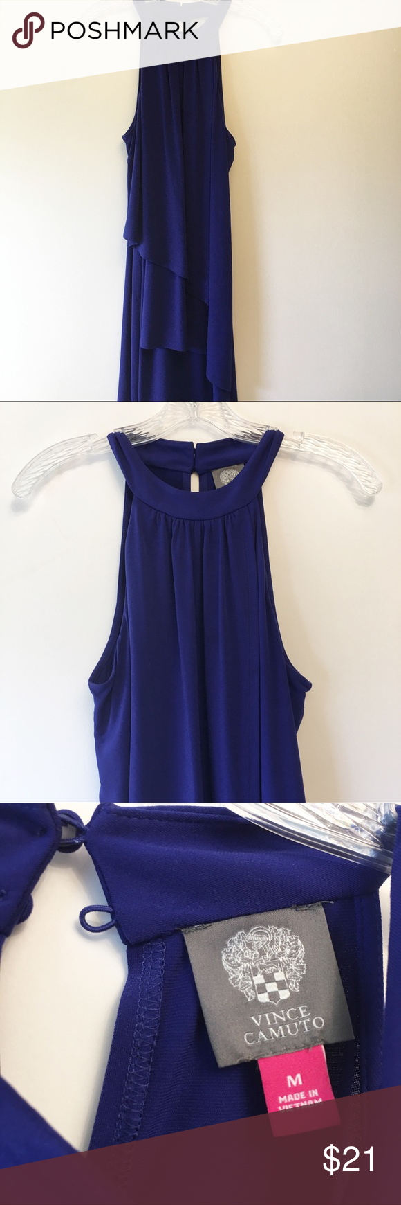 Vince Camuto Sleeveless Blue Dress Medium Vince Camuto Colbalt Blue Mini Dress Sleeveless Lightweight And Blue Sleeveless Dress Blue Midi Dress Clothes Design [ 1740 x 580 Pixel ]